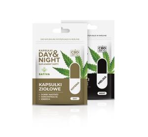 Kapsułki ziołowe DAY&NIGHT - 90 kapsułek, 450mg CBD